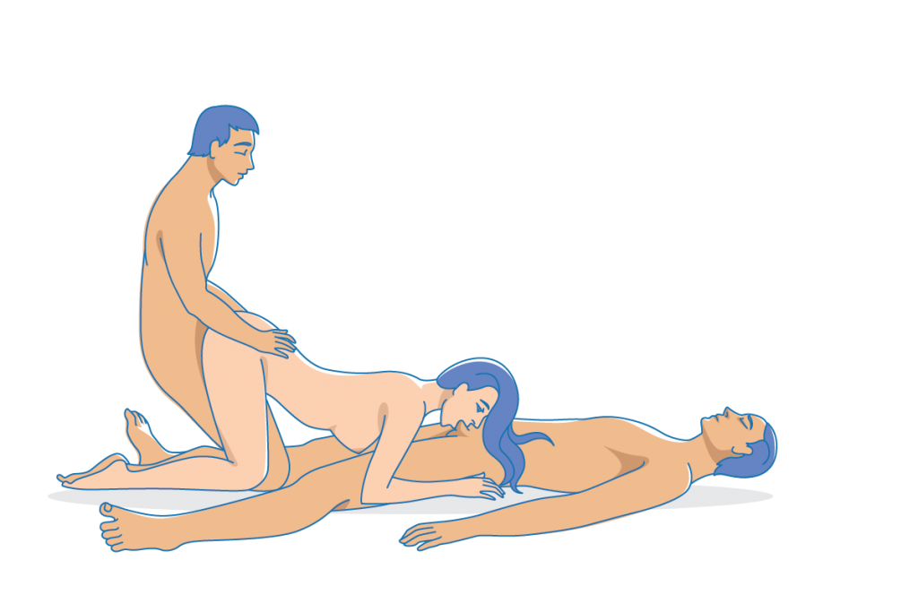 Threesome Position - The Doggy Blowjob